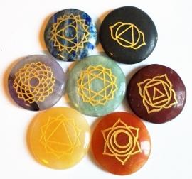 Lot de 7 pierres précieuses de chakra