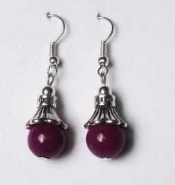 Boucles d'oreilles Agate violette