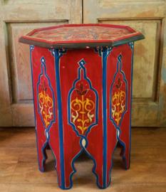 Marokkaans bijzettafeltje hout