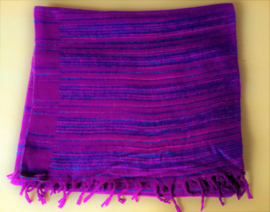 Châle de méditation violet