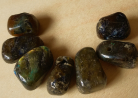 Pendentif pierre roulée Labradorite