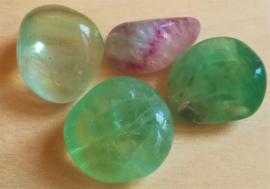 Fluorite pierre roulée