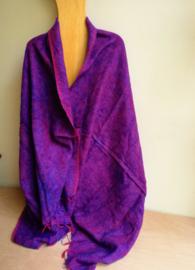 Grand châle de méditation violet