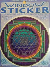 Raamsticker 'Sri Yantra'