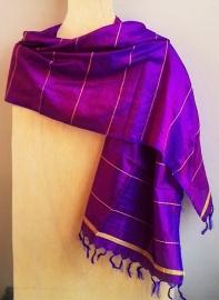 Zijden sjaal Indiaas paars