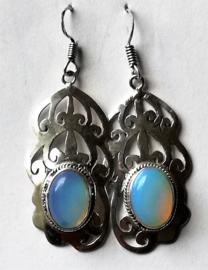 Boucles d`Oreilles Tibetaines Opaline