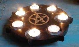 Porte bougies Pentagramme