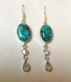 Boucles d`Oreilles Turquoise