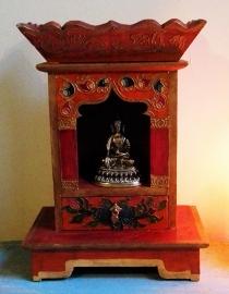 Altaar hout uit Nepal