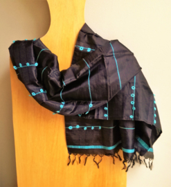 Sjaal Zwart Zijde
