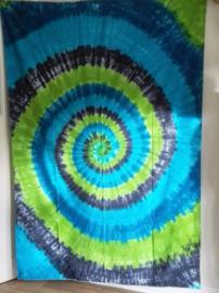 Grand Foulard Spirale Bleu / Vert