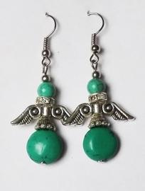 Boucles d'oreilles Anges - Turquoise