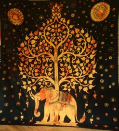Grand Foulard Indien Arbre de Vie