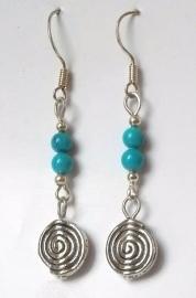 Boucles d'oreilles Tibet Spirale