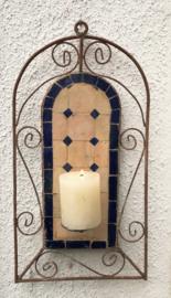 Mozaiek kandelaar smeedijzer