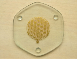 Flower of Life energieplaat goud