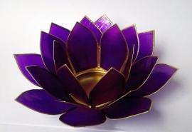 Theelichthouder Lotus paars