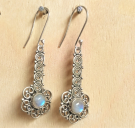 Boucles d'oreilles en pierre de Lune
