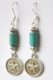 Boucles d'oreilles tibétaines Turquoise