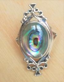Ring zilver met Abalone schelp
