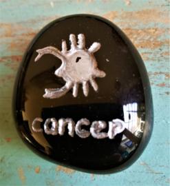 Signe Cancer en Obsidienne noire