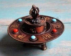 Porte encens tibétain