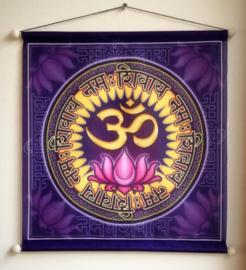 Bannière de méditation Ohm