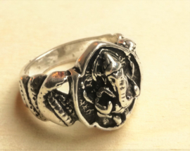Ring Ganesha zilver
