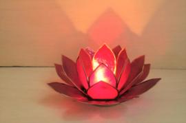 Lotus sfeerlichthouder rood