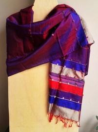 Zijden sjaal uit India