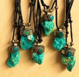 Pendentif Turquoise brut