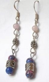 Boucles d'oreilles Quartz rose