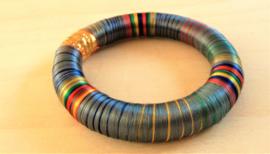 Bracelet indien gris/bleu multicolor