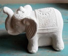 Statue d'un éléphant blanc