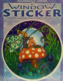 Raamsticker Elfje op paddenstoel