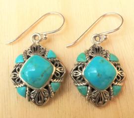 Boucles d'oreilles 'Sleeping Beauty' Turquoise en argent