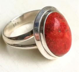 Ring Koraal rood