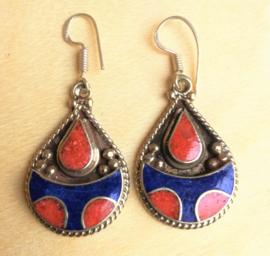 Boucles d'oreilles Tibétaines Traditionnelles