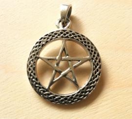 Pentagram hanger zilver