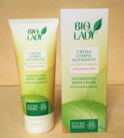 Biologische bodycrème met aloe en argan