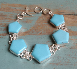 Armband Sterling Zilver Turquoise