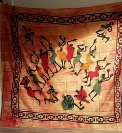 Grand Foulard Danse africaine