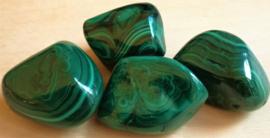 Malachite pierre roulée