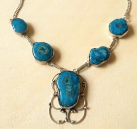 Collier Quartz Bleu Solaire - Argent