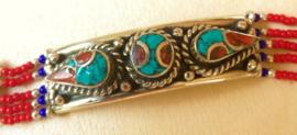 Tibetaanse armband Turkoois met Koraal