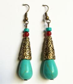 Boucles d'oreilles Tibet Turquoise