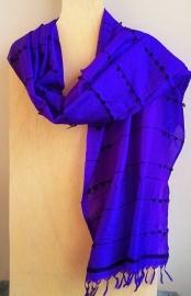 Zijden sjaal paars