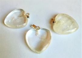 Pendentif coeur Cristal de roche