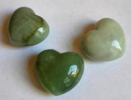 Edelsteen hart Jade