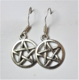 Boucles d`oreilles Pentagramme